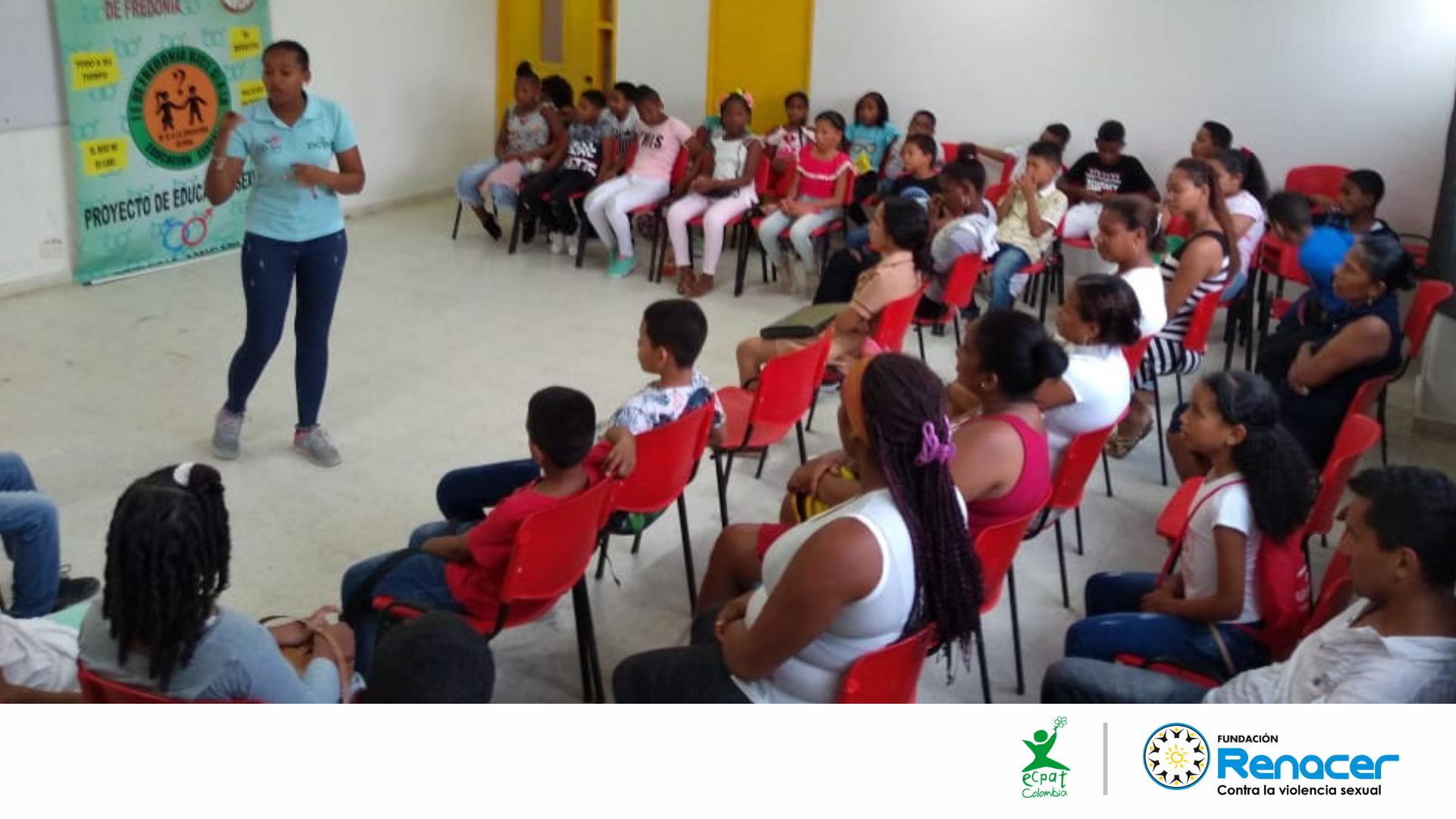 Grupo juvenil EICYAC realizó taller de sensibilización con las y los estudiantes, docentes y padres de Familia en Cartagena.