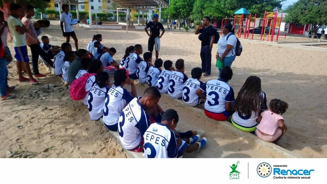 Realizamos jornada de sensibilización frente a la ESCNNA con Fundación Fútbol con Corazón en Riohacha