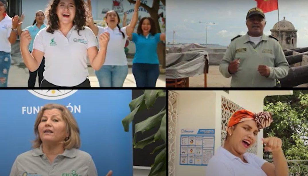 Lanzamiento de la canción «Los buenos somos más» Colombia unida contra la ESCNNA