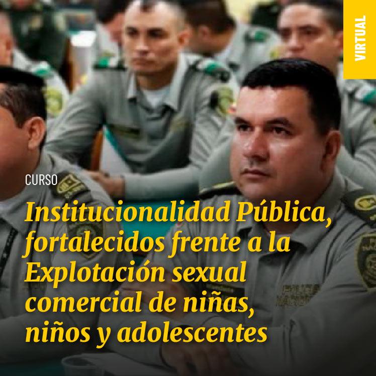 Institucionalidad Pública, fortalecidos frente a la Explotación sexual comercial de niñas, niños y adolescentes