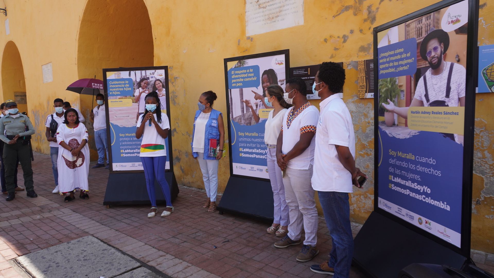 Se inaugura «Galería al aire libre», una iniciativa para sensibilizar sobre la Trata de Personas y la Explotación Sexual Comercial de Niñas, Niños y Adolescentes en Cartagena